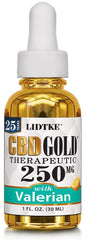 Lidtke/CBD | CBD GOLD with Valerian 250mg | 1 oz (30 ml)