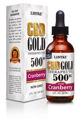 Lidtke/CBD | CBD GOLD with Cranberry 500mg | 2 oz (60 ml)
