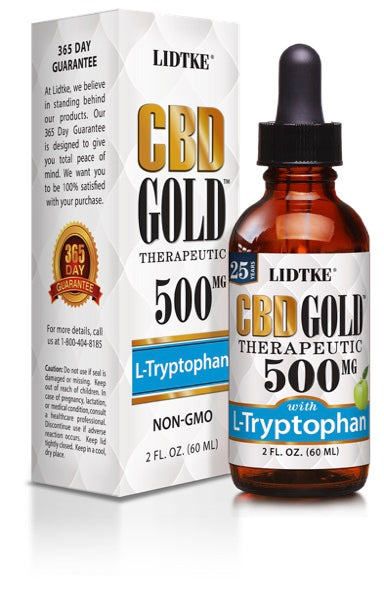 Lidtke/CBD | CBD GOLD with L-Tryptophan 500mg | 2 oz (60 ml)