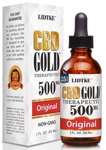 Lidtke/CBD | CBD GOLD with Original 500mg | 2 oz (60 ml)