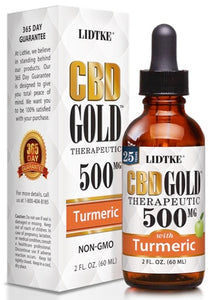 Lidtke/CBD | CBD GOLD with Turmeric 500mg | 2 oz (60 ml)