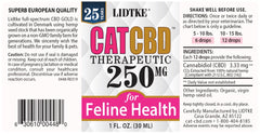 Lidtke/CBD | Cat CBD Gold 250mg | 1 oz (30 ml)