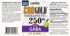 Lidtke/CBD | CBD GOLD with GABA 250mg | 1 oz (30 ml)