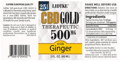 Lidtke/CBD | CBD GOLD with Ginger 500mg | 2 oz (60 ml)
