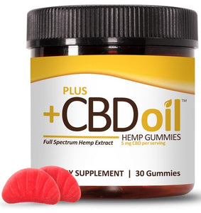 PlusCBD Oil | CBD Oil Gummies - Cherry Mango | 30 - 60 Gummies