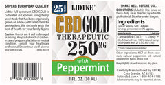 Lidtke/CBD | CBD GOLD with Peppermint 250mg | 1 oz (30 ml)