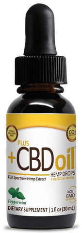 PlusCBD Oil | CBD Oil Drops Peppermint | 250 mg (1 oz)