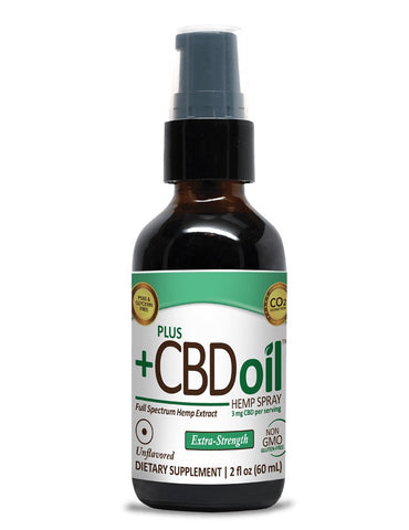 PlusCBD Oil | CBD Oil Spray Unflavored EVOO | 500 mg (2 oz)