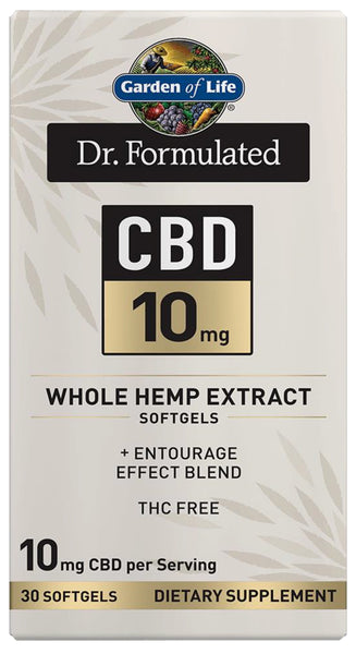 Garden of Life | Dr. Formulated CBD 10mg | 30 - 60 Softgels