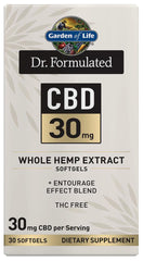 Garden of Life | Dr. Formulated CBD 30mg | 30 Softgels