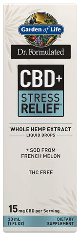 Garden of Life | Dr. Formulated CBD+ Stress Relief† Liquid Drops | 1 oz