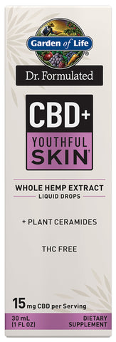 Garden of Life | Dr. Formulated CBD+ Youthful Skin† Liquid Drops | 1 oz