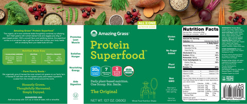 Amazing Grass | Protein SuperFood The Original | 10 Servings