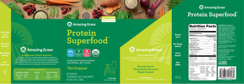 Amazing Grass | Protein SuperFood The Original | 10 Packets