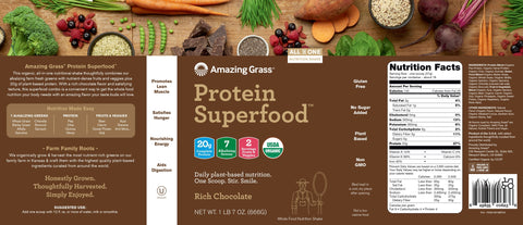 Amazing Grass | Protein SuperFood Rich Chocolate | 18 Servings