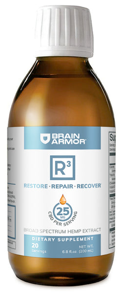 Brain Armor | R3+ Hemp Extract Liquid Lime/Mango | 20 Servings