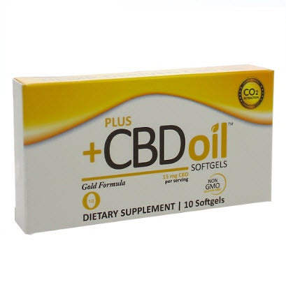 PlusCBD Oil | CBD Oil Softgels Gold Formula | 10 - 30 - 60 Softgels