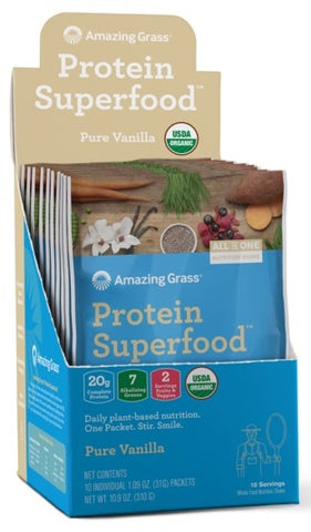 Amazing Grass | Protein SuperFood Pure Vanilla | 10 Packets