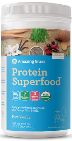Amazing Grass | Protein SuperFood Pure Vanilla | 20 Servings