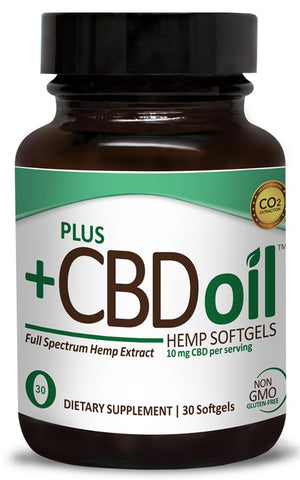 PlusCBD Oil | Cbd Oil Softgels - Total Plant Complex | 30 - 60 Softgels