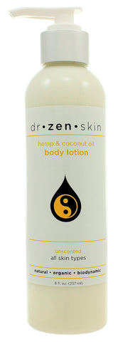 Dr Zen Skin | Hemp Moisturizing Body Lotion - Unscented | 8 Ounces