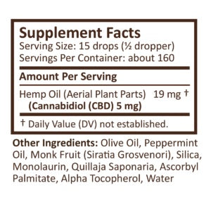 PlusCBD Oil | CBD Oil Drops Peppermint | 750 mg (2 oz)