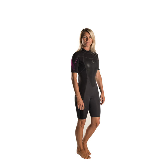 Xenos 3mm Shortie Wetsuit: Womens - Oyster Diving Equipment