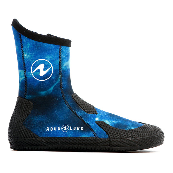 Aqua Lung Superzip Boots - Galaxy Blue - Oyster Diving Equipment