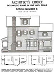 Dollhouse Plan No.6.  DHM4381