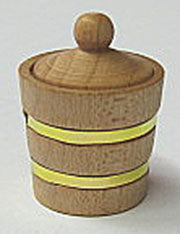Wood Bucket with Lid IM65310