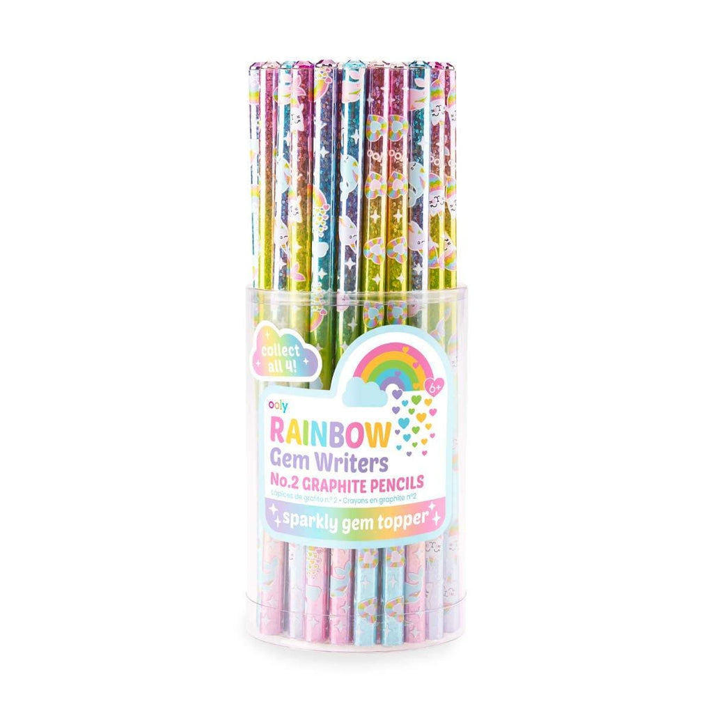 Ooly Funtastic Rainbow Gem Writers Graphite Pencils
