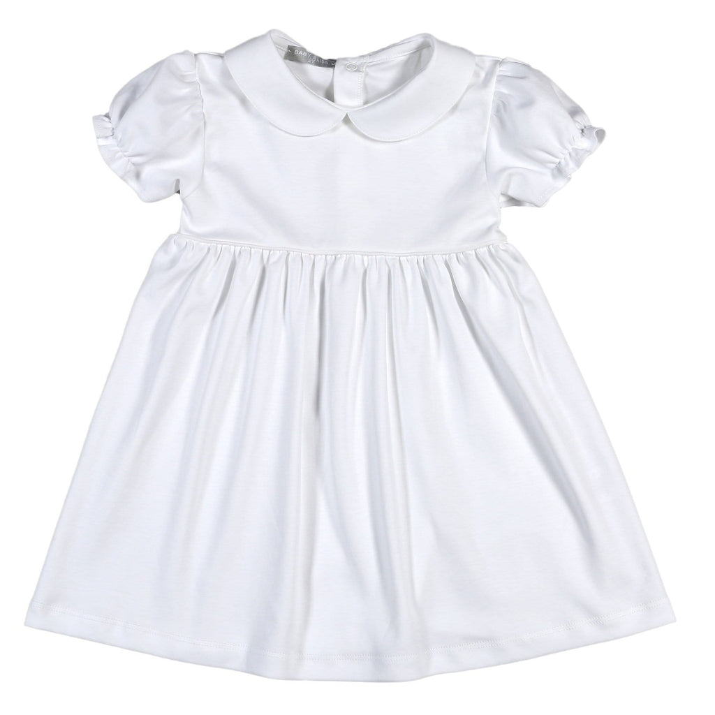 Baby Bliss White Pima Dress
