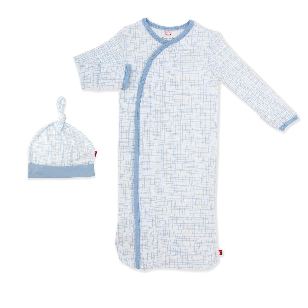 Magnetic Me Greenwich Plaid Magnetic Gown & Hat Set