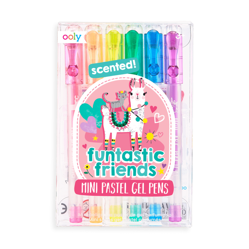 OOLY Funtastic Friends Scented Colored Mini Gel Pens- set of 6