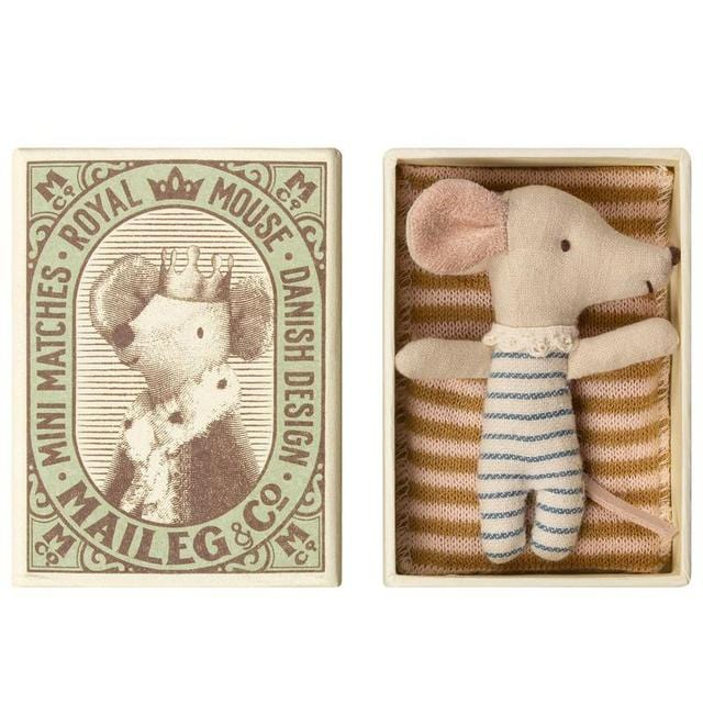 Maileg Baby Mouse - Sleepy/Wakey in box (Boy)