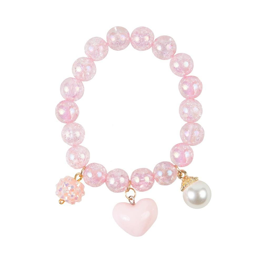 Great Pretender's Pink Heart Bobble Bracelet