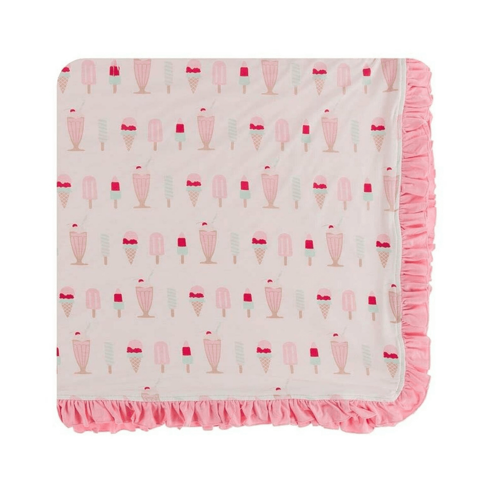Kickee Pants Print Ruffle Toddler Blanket