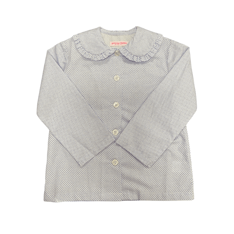 Peggy Green Sophie Top with Ruffle - Davidson Print