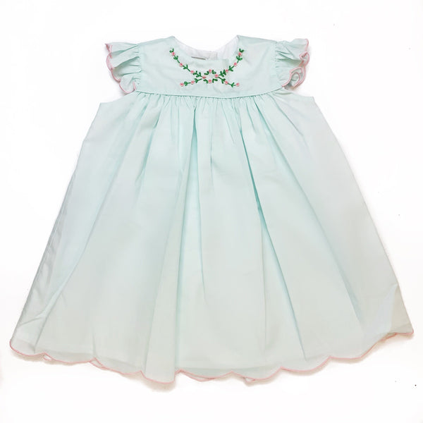 Marco & Lizzy Mint Embroidered Dress