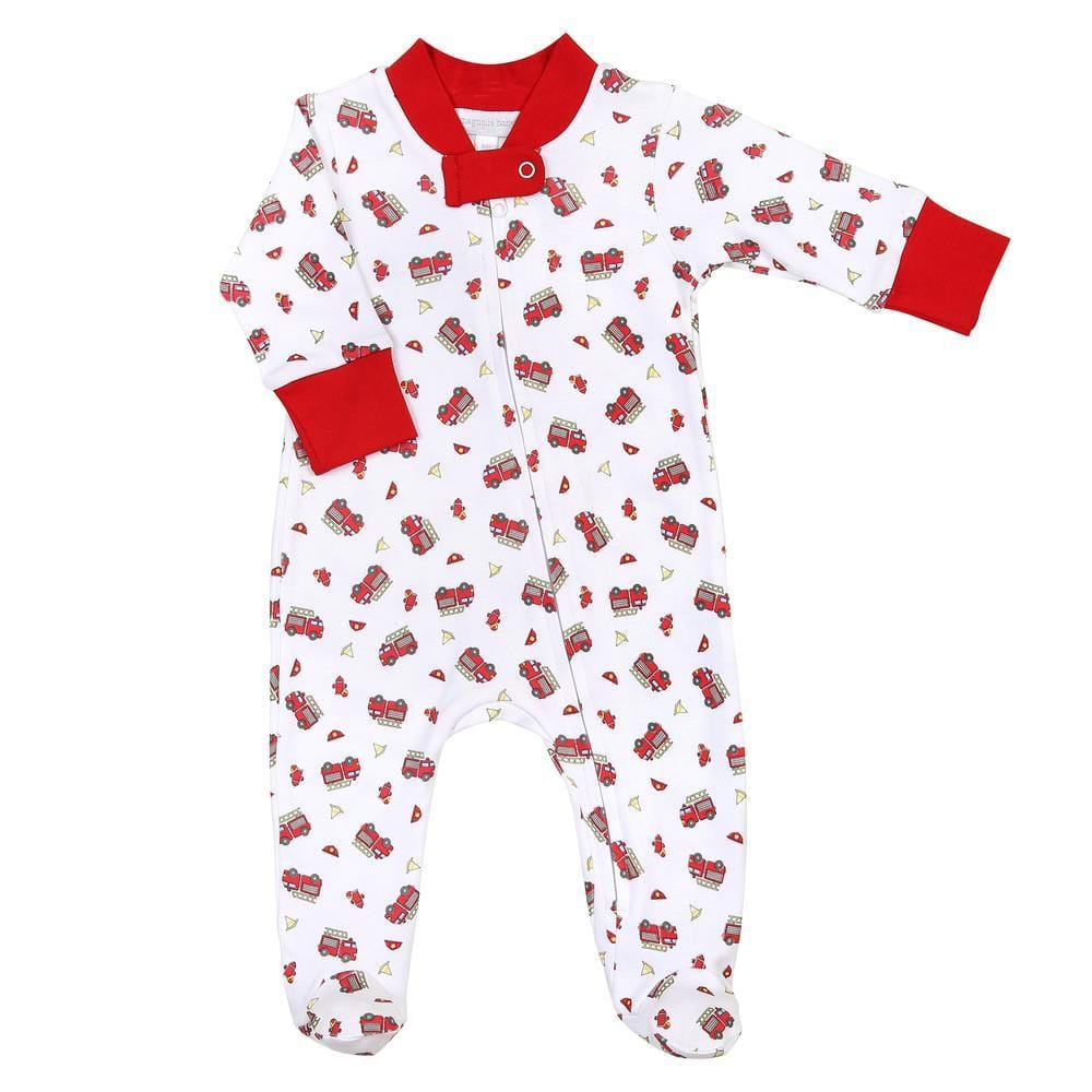 Magnolia Baby Lil' Firetruck Printed Footie