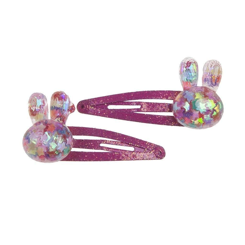 Great Pretenders Bunny Bling Hair Clips - set of 2