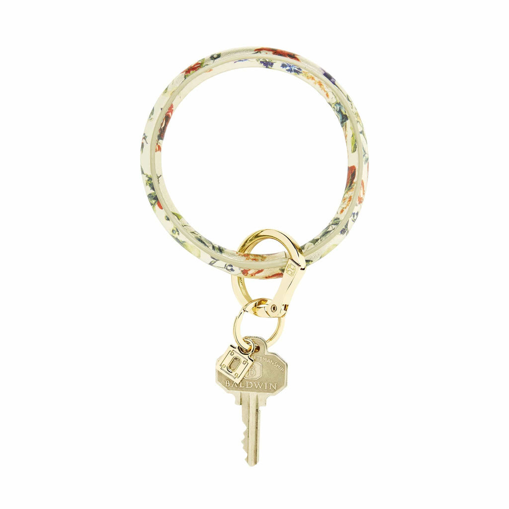 O-venture gOld rush floral big O key ring