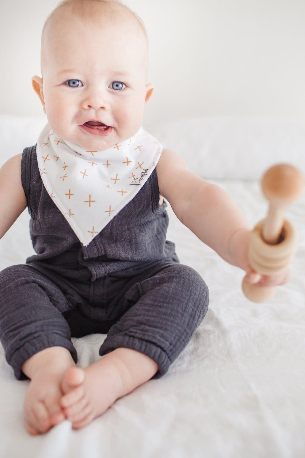 Copper Pearl Chip Baby Bandana
