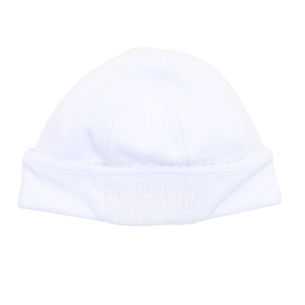 Magnolia Baby Smocked Hat - White (NB)