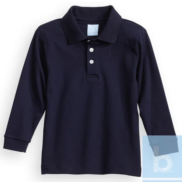 Bella Bliss Fall Pima Polo Tee- Navy