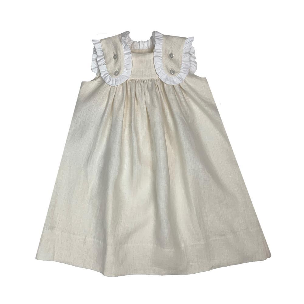Lullaby Set Faith Flap Dress - Khaki Linen