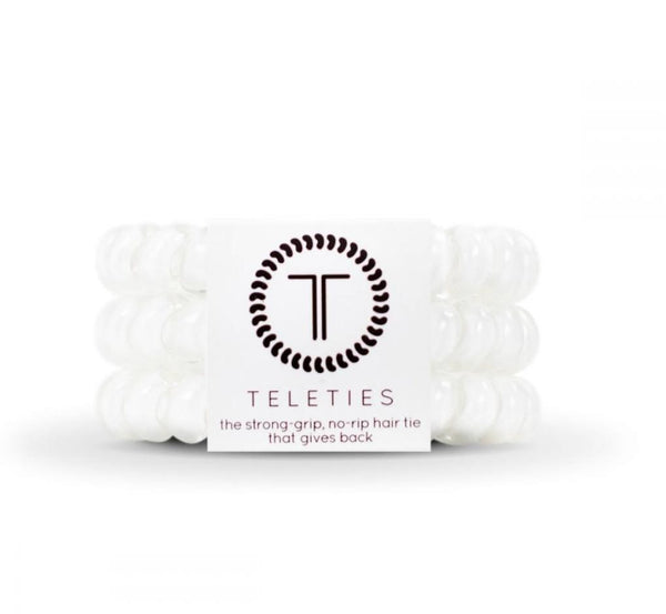 Teleties Coconut White 3-Pack