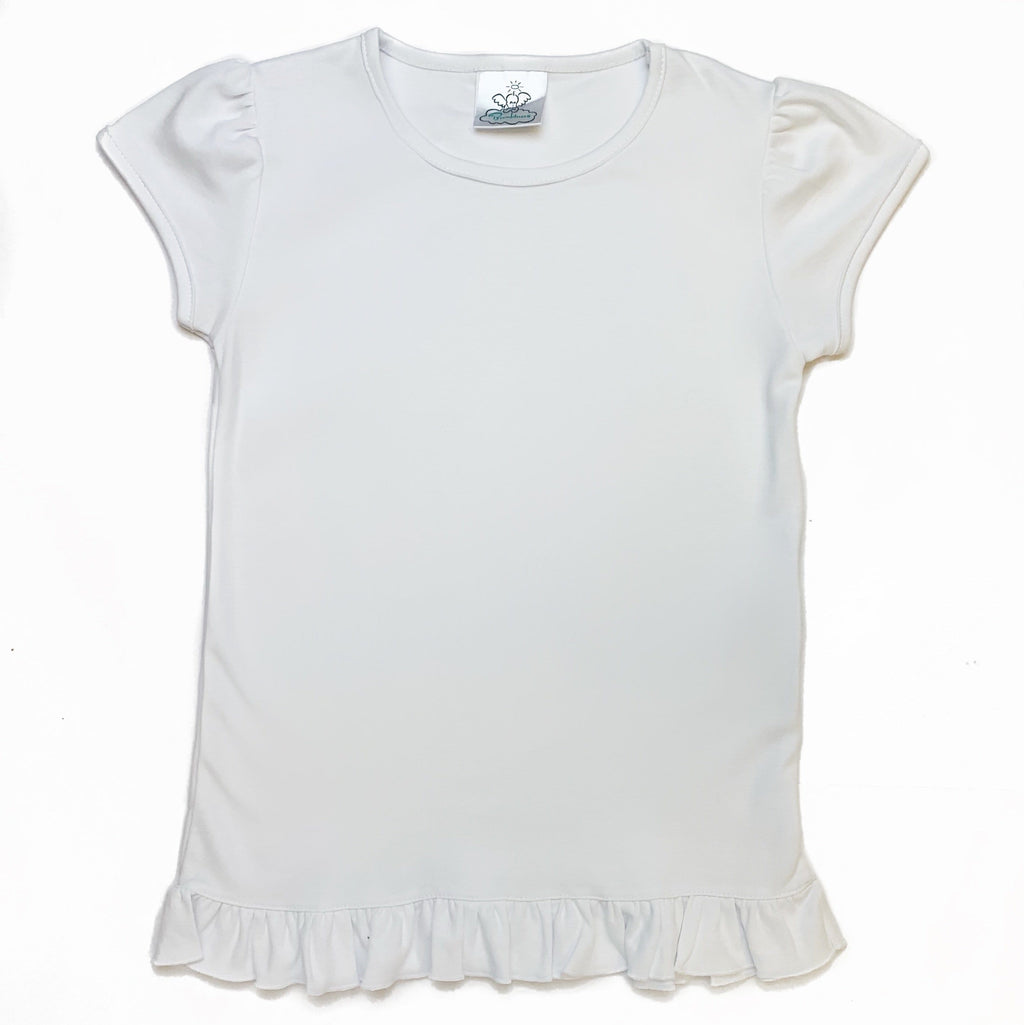 Bambinos River Oaks Ruffle Tee- Short Sleeves