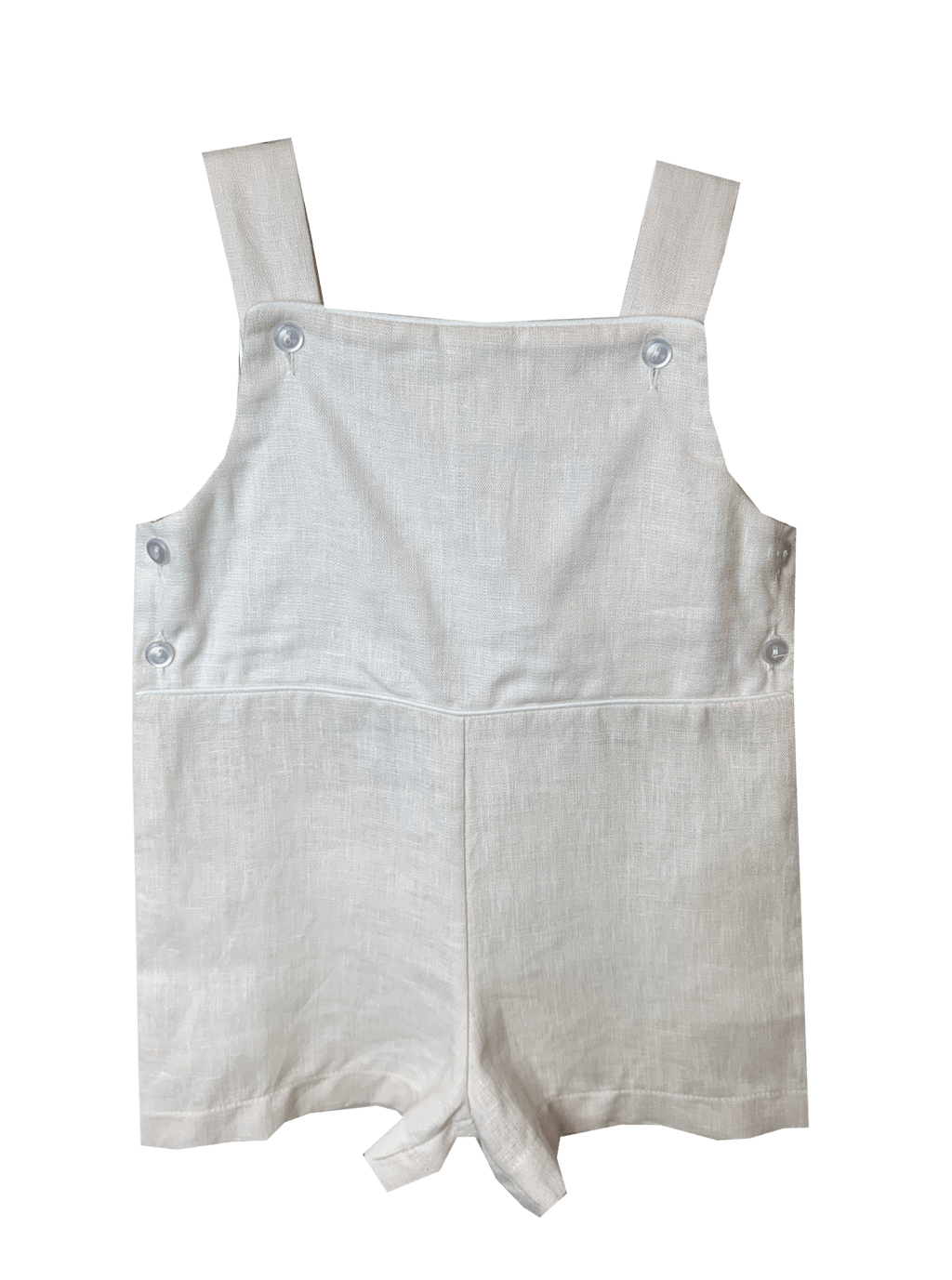 Lullaby Set Jacob Jon Jon - Khaki Linen with White Piping