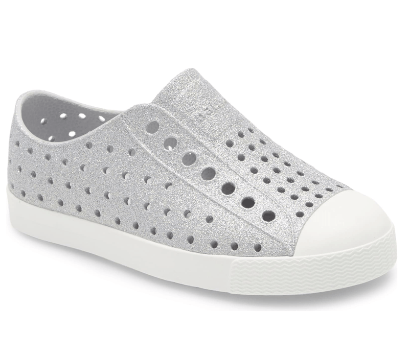 Native Jefferson Child Slip On Shoes - Silver Bling